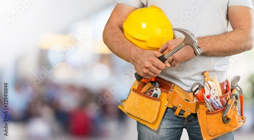 Wall mural Builder.
