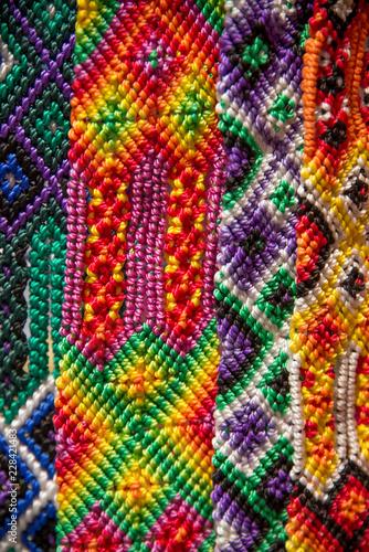 tejidos mexicanos cinturones de hilos - 228421483