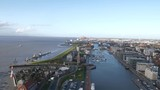 Bremerhaven with old habor zoo and new sepot terminal - 228428248