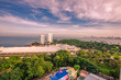 Pattaya - Chonburi: 15 October 2018, Amari Residences Pattaya, overlooking Viewpoint Pattaya Sea island, located in Pratumnak Hill, Thailand. - 228428414