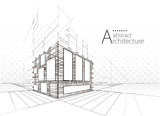 Architecture building construction perspective urban abstract background.  - 228431655