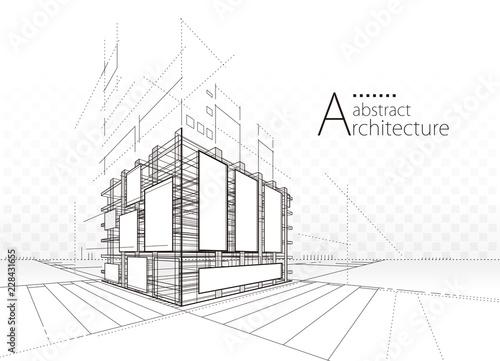 Architektura budynku budowy perspektywiczny miastowy abstrakcjonistyczny tło.
