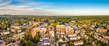Aerial cityscape of Morristown, New Jersey. Morristown has been called the military capital of the American Revolution, because of its strategic role in the war for independence from Great Britain - 228440813