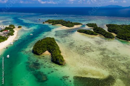 Leinwanddruck Bild Kabira Bay in ishigaki island of Japan