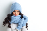 Woman in warm clothing - 228480405