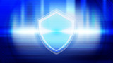 Abstract blue light and shade creative technology background. Vector illustration. - 228482628