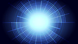 Abstract blue light and shade creative technology background. Vector illustration. - 228482629