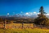 Tatra Mountains close up from Poland Slovakia border side