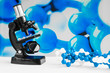 Laboratory research. The microscope and the molecular chain. Genetic engineering.