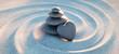 Leinwanddruck Bild - Turm aus Kieselsteinen mit Kiesel in Herzform