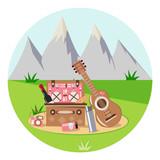 romantic picnic in nature - 228499673