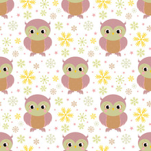 Pattern  Owl Sticker