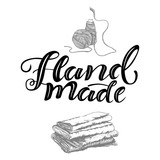 Hand drawn lettering Hand made  - 228515434