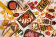 Leinwanddruck Bild - Italian food ingredients on old wooden background
