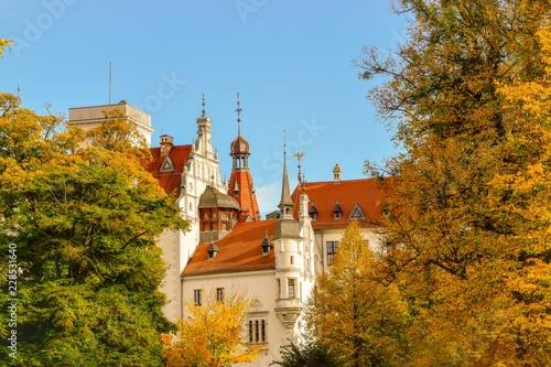 Leinwanddruck Bild Schloss Boitzenburg in der Uckermark bei Templin in Brandenburg