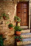 Fototapeta Fototapety na drzwi - Floral streets of Spello in Umbria, Italy. © konik60