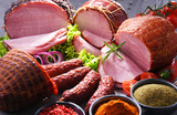 Composition with assorted meat products - 228544643