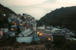 Panoramic view on Riomaggiore town in Italy. It is one of the five cities that make up the Cinque Terre region - 228554016