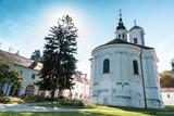 a beautiful old Orthodox monastery - 228563679