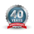 Forty years anniversary badge