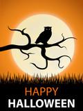 Halloween Eule Grußkarte (Happy Halloween)