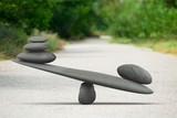 Spa concept with zen basalt stones - 228580871