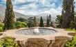 Quadro Fountain of the Bicchierone in Villa d'Este, Tivoli, Italy