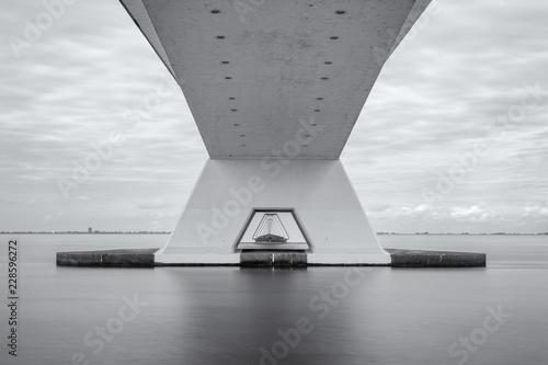 Zeeland Bridge, longest bridge in the Netherlands. - 228596272