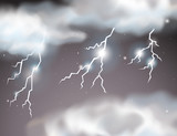 Lightning storm scene background - 228604022