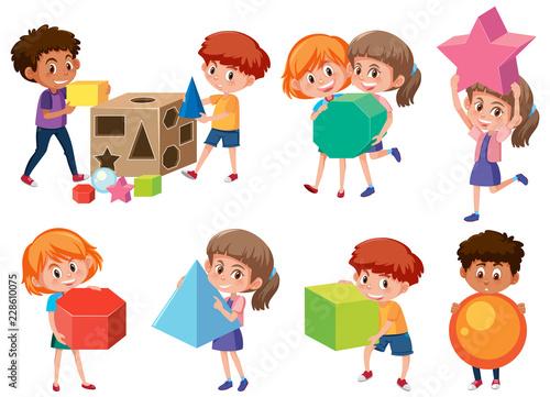 Children with math shape - 228610075