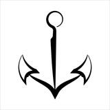 Anchor Icon, Flat