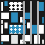 modern art design perfect for artsy background or hijab scarf pattern with scandinavian colorful style - 228634818