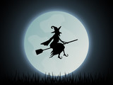 Halloween Hexe Hintergrund - 228637273