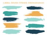 Craft label brush stroke backgrounds
