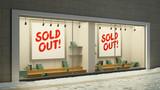 Leere ausverkaufte Schaufenster im Einzelhandel - 228678295