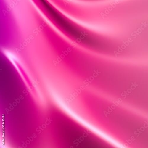 Smooth elegant pink silk or satin texture. Luxurious valentine day background design. - 228692636