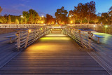 Paris. Bridge of Leopold Sedar Senghor.