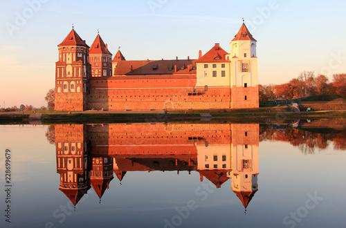 Antyczna architektura Białoruś w jesień czasie