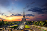 Eiffel Tower and fountains - 228717009