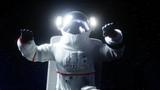Astronaut levitation in space. 3d rendering. - 228734674