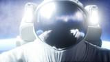Astronaut levitation in space. 3d rendering.
