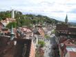 Leinwanddruck Bild - Blick auf Burgberg, Mehlsack und Stadtkirche in Ravensburg