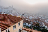 Foggy sunrise in Lisbon. Portugal - 228743006