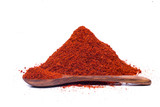 red chili powder isolated on white background  - 228748084