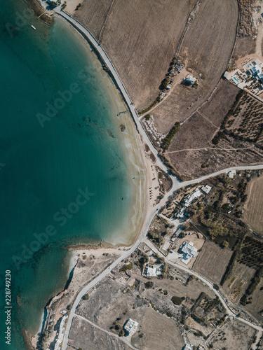 Powietrzna fotografia Śródziemnomorska linia brzegowa