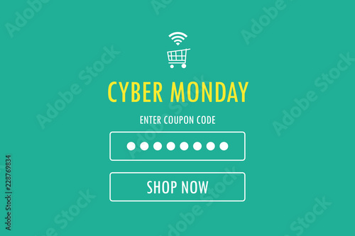 Cyber monday sale web page banner, background, shopping online sale concept