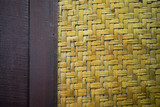 Thai vintage local bamboo weave pattern background.