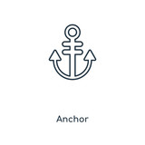 Anchor concept line icon. Linear Anchor concept outline symbol design. This simple element illustration can be used for web and mobile UI/UX.
