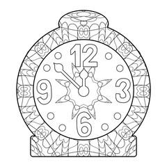 Clock for coloring page or decoration for children