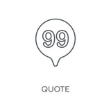 Quote linear icon. Quote concept stroke symbol design. Thin graphic elements vector illustration, outline pattern on a white background, eps 10.